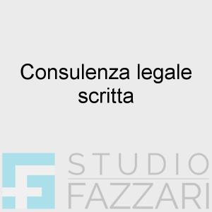 Consulenza legale scritta