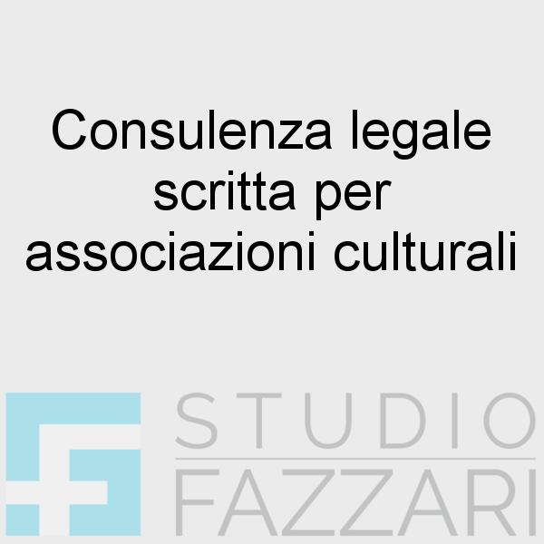 Consulenza legale scritta per associazioni culturali