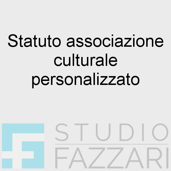 Statuto associazione culturale personalizzato